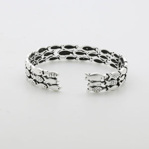 Silver Fish Bracelet & Ring Set - Resizable - hope2shop