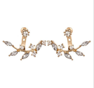 Full Crystal Front Back Double Sided Earrings