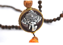 Load image into Gallery viewer, Mala Wood Beads Pendant & Necklace