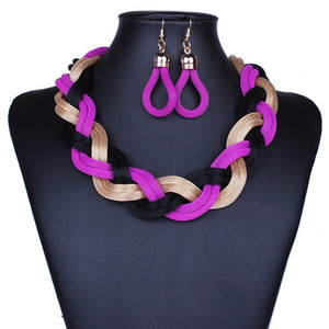 Mysterious Charming Necklace Earrings Set