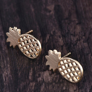 Gold Silver Color/Cat Elephant Pineapple Earrings