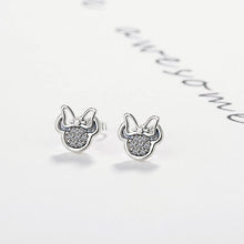 Load image into Gallery viewer, Silver Color Mickey Stud Earrings