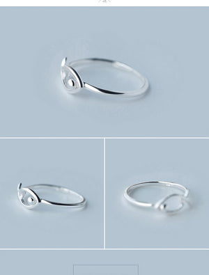 Sterling Silver Fish Cocktail Ring
