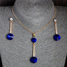 Load image into Gallery viewer, Pendants & Necklace Stud Earrings Blue Natural Stone