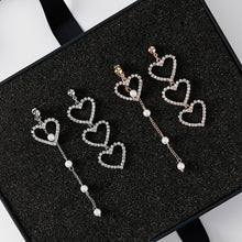 Load image into Gallery viewer, Crystal Love Heart Earrings