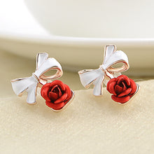 Load image into Gallery viewer, Charming Rose Flower Earrings