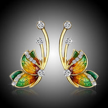 Load image into Gallery viewer, Hanging butterfly earrings
