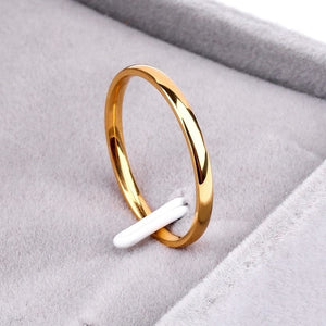 Titanium Steel Anti-allergy Smooth Simple Rings