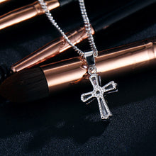 Load image into Gallery viewer, Rose Gold Color Cross Crystal Necklace