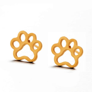Golden Cute Stud Earrings