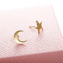 Load image into Gallery viewer, Gold/Silver/ Star Moon Heart Shape  Earrings