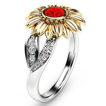 Load image into Gallery viewer, Modyle 2018 New CZ Stone Fashion Jewelry Femme Gold Silver Color Cute Sunflower Crystal Wedding Rings for Women - hope2shop