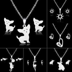 Silver Animals Jewelry Sets