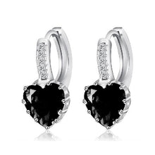 Load image into Gallery viewer, Sterling Silver Cubic Zirconia Stone Earrings