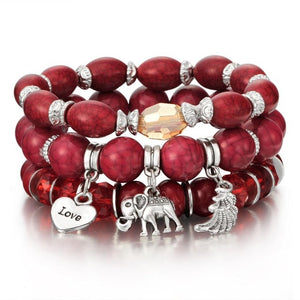 High Quality Colourful Gem Bracelets & Bangles