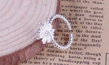 New arrival silver plated ring for women Daisy flower wedding ring Chrysanthemum engagement jewelry Adjustable size - hope2shop