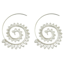 Round Spiral Drop Earrings