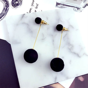 Elegant Pompom Dangle Earring