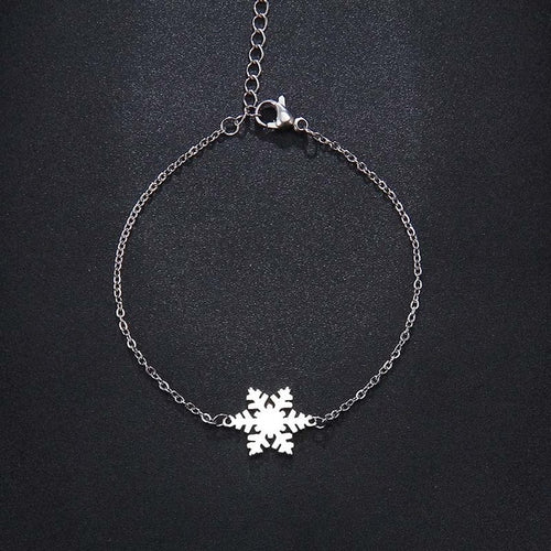 Snow Shape  Stainless Steel Necklace