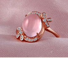 Sterling Silver & Rose Amber Ring for Women - hope2shop