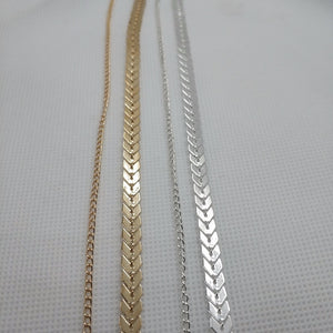 Multi Arrow & Flat Chain choker Two Layers Fishbone Airplane Necklace