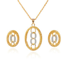 Gold Color Jewelry Sets & Pendant Necklaces Water Drop Earrings & Ring