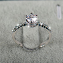 Luxury Engagement ring 925 5A Zircon Wedding crown Rings for women
