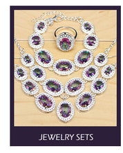 Load image into Gallery viewer, Silver Earrings/Pendant/Necklace/Rings/Bracelet Zircon Jewelry Sets