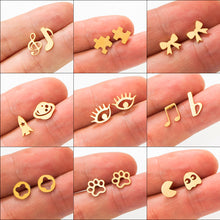 Load image into Gallery viewer, Golden Cute Stud Earrings