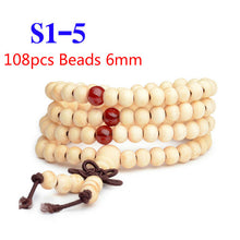 Load image into Gallery viewer, Natural Sandalwood Buddha Wood Prayer Bracelets