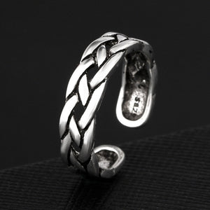 Silver Weaving Index Tail Ring