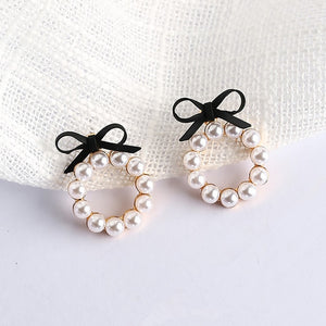Lovely Colourful Bow Earrings For Women