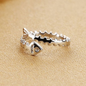Sterling Silver Lovely Fish Ring For Women