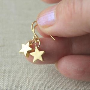 Gold Color Star Stud Earrings