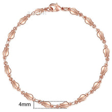 Load image into Gallery viewer, Rose Gold Curb Snail Foxtail Chain Bracelets