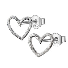 Load image into Gallery viewer, Hollow Heart Silver Earrings