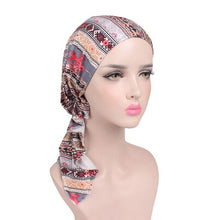 Load image into Gallery viewer, WJ 2019 NEW Fashion Women Flower Muslim Ruffle Cancer Chemo Hat Beanie Scarf Turban Head Wrap Cap F2