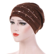 Load image into Gallery viewer, Fashion Muslim Women Turban Hat Bandanas Cancer Chemo Cap Hijab Hair Loss Accessories Chemo Cap Headwrap Women Headbands