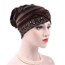 Load image into Gallery viewer, Fashion Women Winter Hats Soft  India Hat Luxury Turban Hats Beanie Head Wrap Chemo Cancer Cap