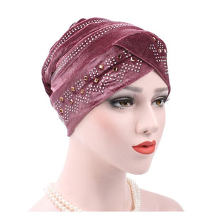 Fashion Women Winter Hats Soft  India Hat Luxury Turban Hats Beanie Head Wrap Chemo Cancer Cap