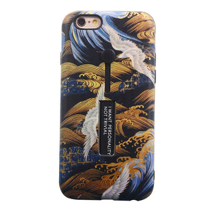 Protective Phone Cover Red-crowned Crane Pattern for iPhone