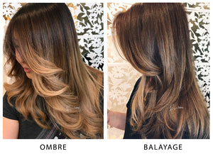 ombre vs balayage differences