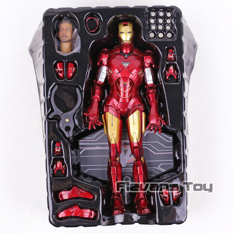 Marvel Avengers Iron Man Mark VI MK 6 PVC Collectible with LED Light