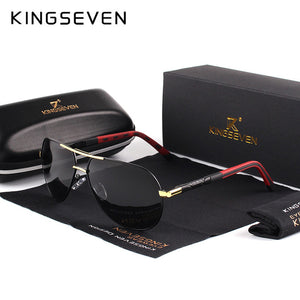 KINGSEVEN Vintage Aluminum HD Polarized Sunglasses