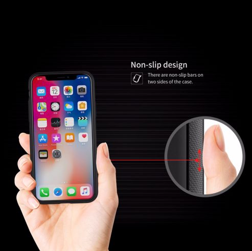 iPhone X Magic Case with Magnetic Back, Wireless Qi Charging Enabled