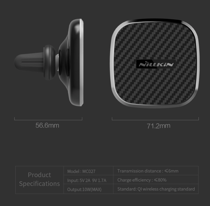 Nilkin Fast Qi Wireless Car Charger