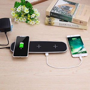 3 Coils Wireless Charging Pad with 2 USB Port