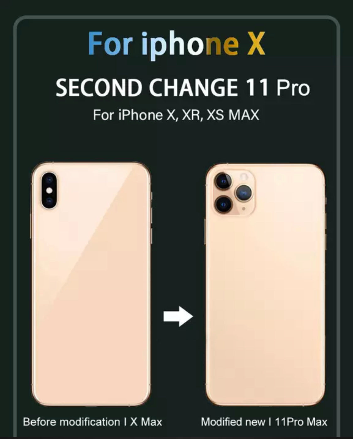 iPhone X, XS Max, XR conversion to iPhone 11 Pro, 11 Pro Max & 11