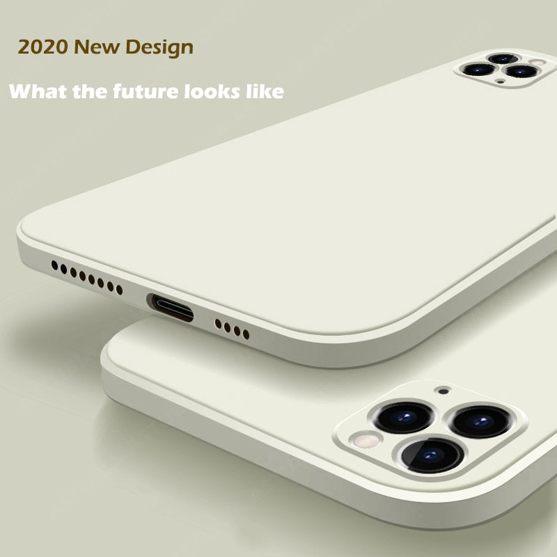 2020 New Luxury Liquid Silicone Case For iPhone 11 Pro Max 12  protector Case For iPhone X XS MAX XR 7 8 6 6S PLUS SE 2020 Cover