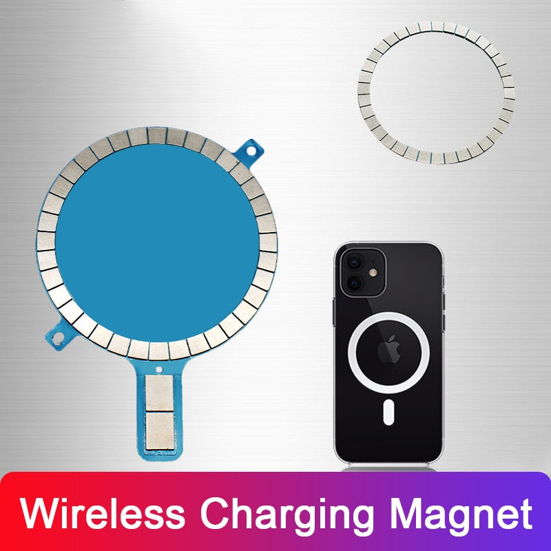 Wireless Charging Magnet for iPhone 12 Pro Max 12 Mini 11 Xs Xr 8 Mobile Phone Case Strong Magnetic Leather Cover for Magsafe